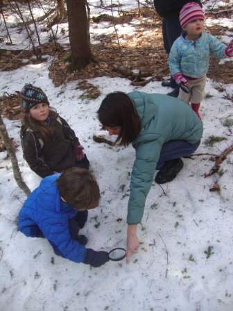 Place based preschool in winter