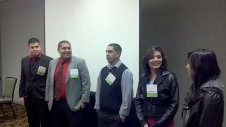Five Latino students present at a national Green Schools conference in Denver.