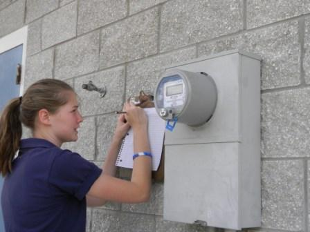 Student records data from the school's electric meter