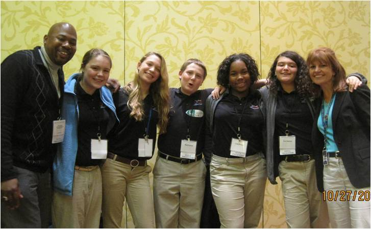Students from Two Rivers Magnet Middle Schools in East Hartford, CT present at the National Science Teachers Association