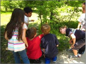Children explore the outdoors and nature with the help of PLT activities.