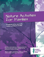 Cover for the Nature Activities for Families guide
