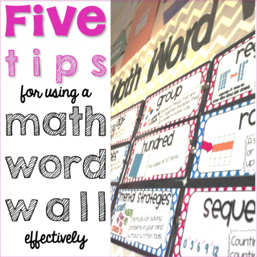 math-word-wall-five-tips