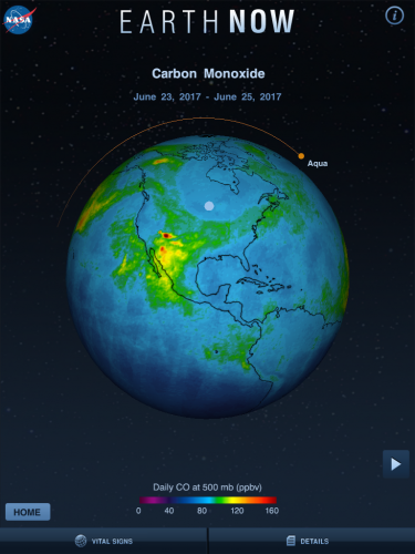 Earth now science app for middle and high school students