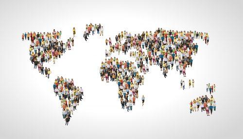 world map human population