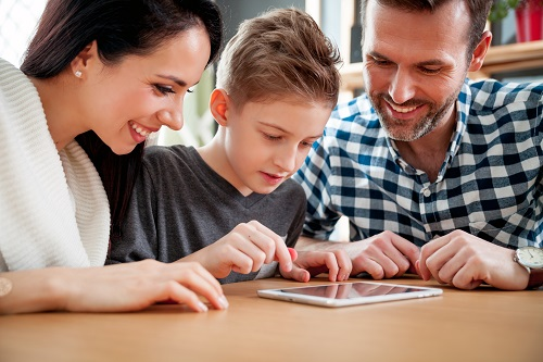 Family tablet activity