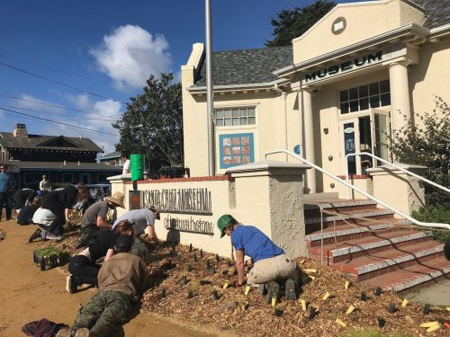 Santa Cruz students restore garden outside museum
