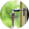 keys in the door