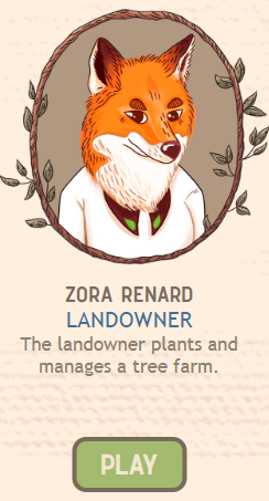make that paper online game screenshot of landowner fox Zora Renard