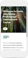 cellphone-displaying-start-of-project-learning-tree-green-jobs-online-course