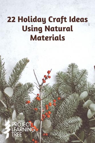 22 holiday craft ideas using natural materials