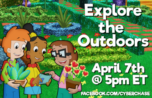 explore the outdoors facebook live cyberchase plt event