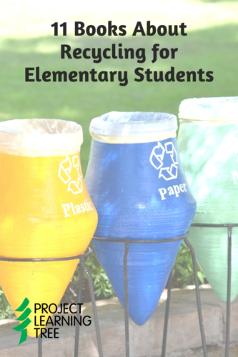11 books about recycling for elementary students photo of multicolored recycling bins